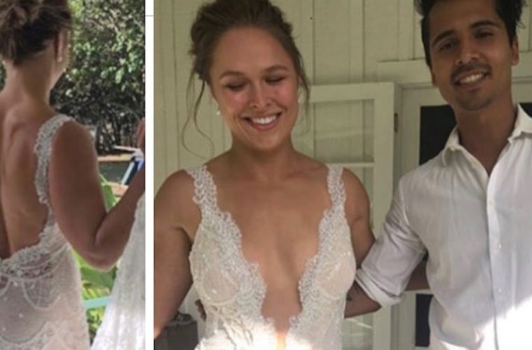 Ronda Rousey Makes A Sexy Bride During Hawaii Wedding To Travis